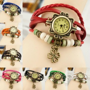 Clover Pendant Wrist Watch