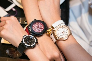multifunction leather watch