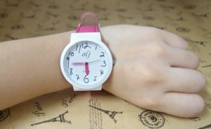 Pencil analog watch