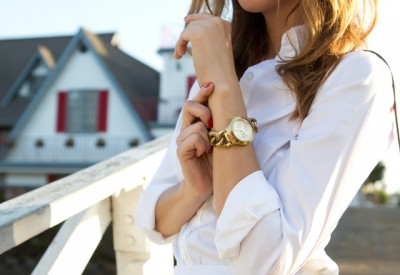 Women Gold Bracelet Watch