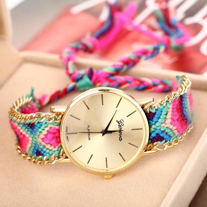 knitted wirst watch