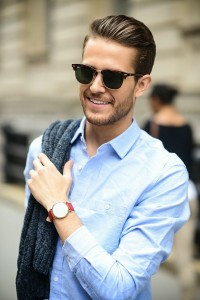 handsome men with watch