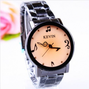 stain steel watch with music