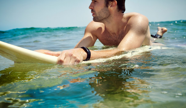 swimming with watch