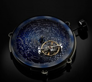 watch with starry sky