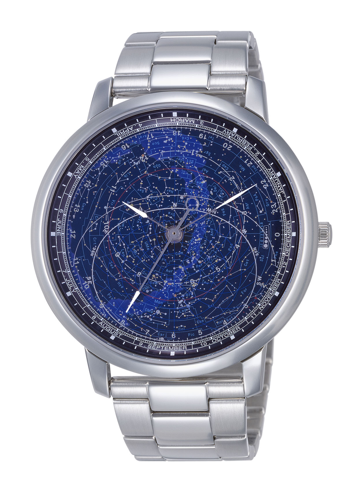 wrist watch with starry sky