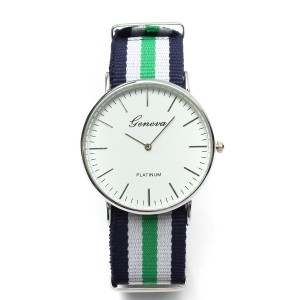 Three Colors Stripe Analog Watch