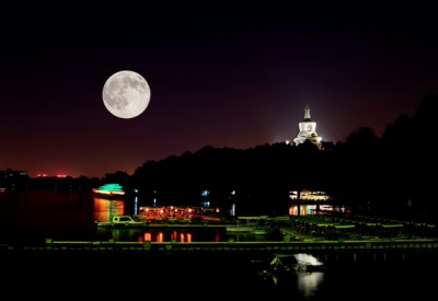 full moon on the Mid-Autumn Festival