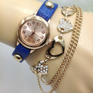 heart chain bracelet watch