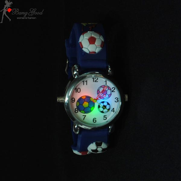 football LED children watch