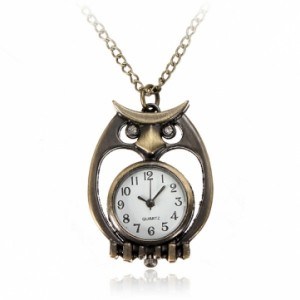 owl bronze pocket watch
