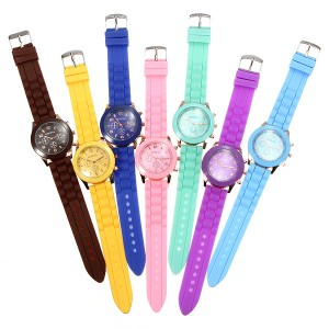 silicone women wrist watch