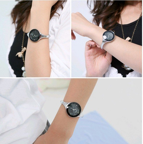 women with simple watch