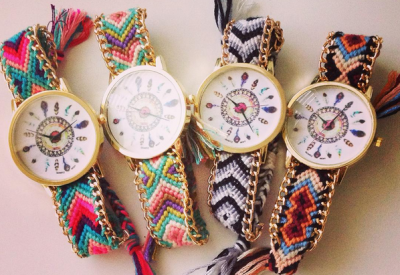 girls knitted wrist watch