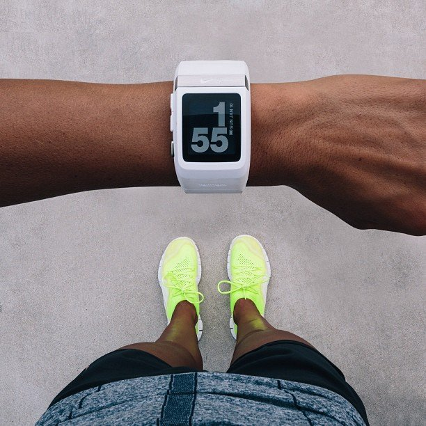 people with sport watch