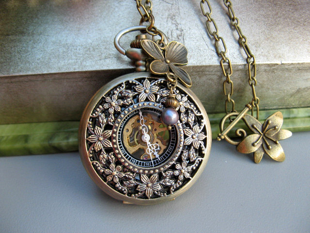 Bronze Mechanical Pocket Watch