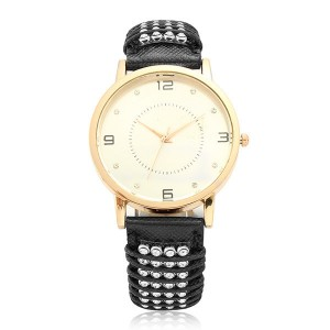 Rose-golden Band Quartz Watch