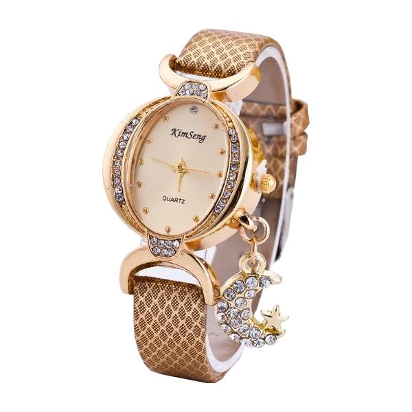 Women Moon Pendant Watch
